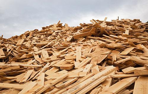 Holzcontainer für unbehandeltes Holz